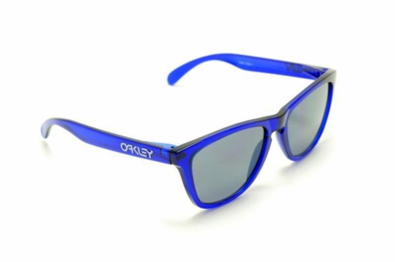 oakley frogskins navy blue