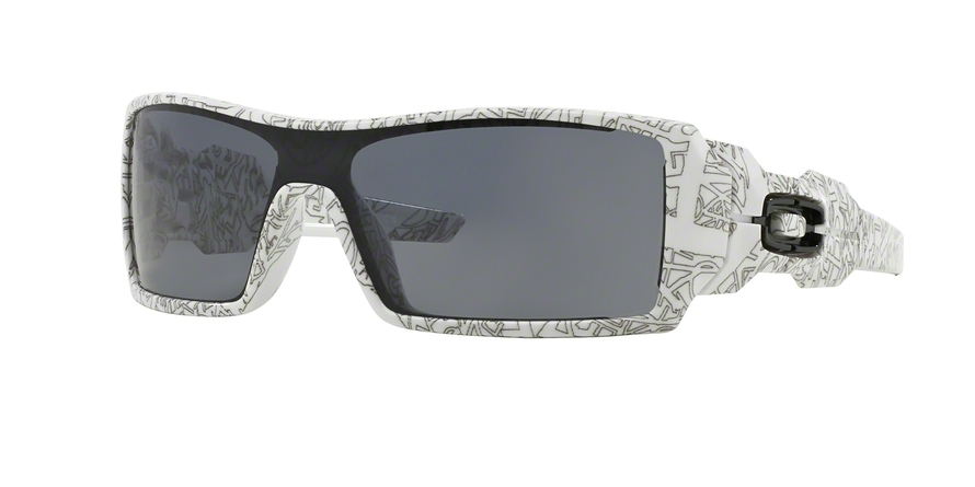 c479fe0b298cd Oakley Oil Rig White With Text Print Paint W Grey