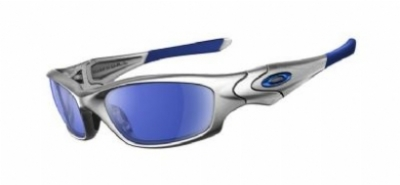 oakley sunglasses silver with blue flames  oakley straight jacket 04332
